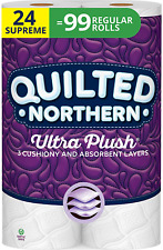 Quilted Northern Ultra Plush Toilet Paper, 24 Supreme Rolls 24 = 99 Regular Roll