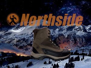Waterproof -3/4 Hi Hiking Suede Rubber Toe Boots  Men's Size 9M  Brown/gray.