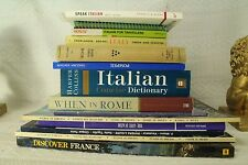 lot old travel books Italy Italian Dictionary Rome Pompeii Naples Venice France