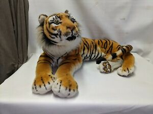 "JUMBO 38"" Paw-Tail 44"" End Tail Realistic TIGER PLUSH Large Life Like Stuffed"