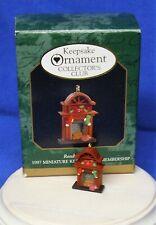 Hallmark Club Miniature Christmas Ornament Ready for Santa 1997 Fireplace Mouse
