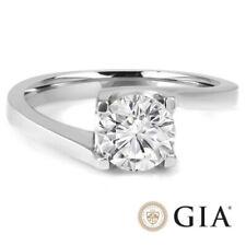 Diamantring 1,00 Karat Brillant 750 18K Weißgold GIA Zertifikat R+ SI1 Diamant