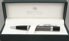 Monteverde Jewelria Executive Black Chisel & Chrome Ballpoint Pen - New In Box
