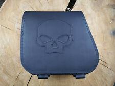HERKULES SKULL BLACK Seitentasche Harley Fat Boy Bob  Evo Twin Cam Saddle bag hd