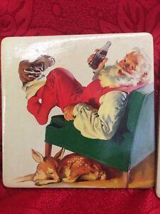 Christmas Coca Cola Drink Coasters