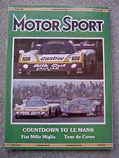 Motor Sport (June 1988) Monaco GP, Nissan GTS-R, Bluebird, Alfa 75, Fiat 1100S