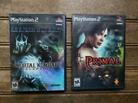 Lot of 2 PS2 Games: MORTAL KOMBAT DECEPTION PREMIUM & PRIMAL / Black Label