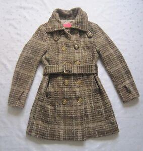 Vintage Betsey Johnson Collection Pink and Navy Tartan Plaid Ruffle Jacket Coat Size Medium
