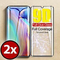 2x 9D Schutzglas Huawei P30 Pro Glas Folie Echt Glas 9H Schutzfolie Echtglas