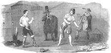 LONDON. Haymarket Theatre new Burlesque of Gemini-Combat, antique print, 1852