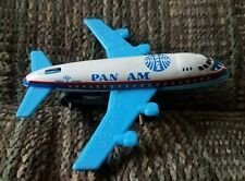 Vintage Pan Am Jumbo Jet 747 Tin & Plastic Toy Friction Powered, Japan