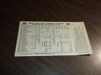 SEPTEMBER 1943 CRI&P ROCK ISLAND CONDENSED CHICAGO TO OMAHA, NE PUBLIC TIMETABLE