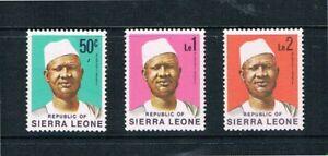 Sierra Leona - 1972 President Siaka Stevens - Sc 432-434 [ Sg 586B-588B ] MNH E4
