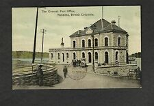 Colorized The General Post Office Nanaimo BC postcard postally used