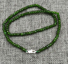 2x4mm Faceted Natural Emerald Abacus Gems Necklace 18''