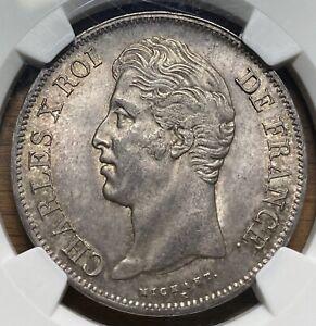 1830A France 5 Francs PCGS MS62