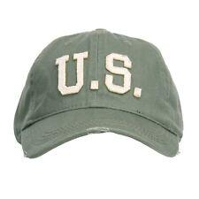 US Army Baseball Cap Oliv Stonewashed U-S. USMC Seals Navy Marines WK2 WWII