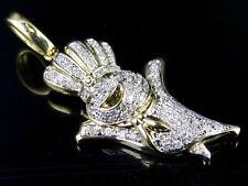 """10K Yellow Gold Genuine Diamond Pillsbury Dough Custom Pendant Charm .60CT 1.5"""""""