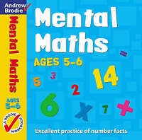 Mental Maths for Ages 5-6 (Mental Maths), Andrew Brodie | Paperback Book | Good