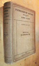 PATHOLOGISCHE ANATOMIE LUDWIG ASCHOFF PATHOLOGICAL ANATOMY BIRTH DEFECTS 1921