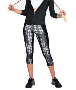 Under Armour Women's HeatGear Printed Capri Leggings 1310667 New Size S