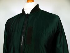 Pretty Green | Ivy Green Iridescent Padded Bomber Jacket - S/M - Ska Mod Scooter