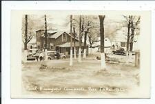 Real Photo Postcard Post Card Rice Lake Wisconsin Wis Wi Paul Bunyon Campsite