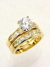 Set Size 5 6 7 8 9 10 2.5 Carat Round Gold Ep Wedding Engagement Ring