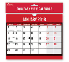 2018 Month to View Wall Planner Calendar Easy Home Office Spiral Bound Large