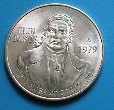 100 Pesos Stati uniti del Messico 1979 - Arg. 720 20 gr. -nr  649