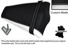 WHITE & BLACK CUSTOM 08-13 FITS HONDA CB 1000 R REAR PILLION LEATHER SEAT COVER