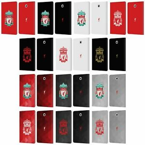 LIVERPOOL FC LFC CREST 1 PU LEATHER BOOK WALLET CASE FOR SAMSUNG GALAXY TABLETS