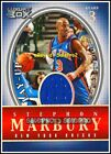 TOPPS LUXURY BOX 2004 STEPHON MARBURY NBA NEW YORK KNICKS #LUSM GAME JERSEY /500