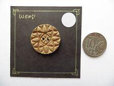 1950s Vintage Med Carved Lt Brown Coat Jacket Cape Collectible Button-28mm