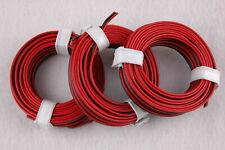 (1m = €) Twin Braid Wire Red/Black 3 x 5m New
