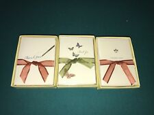 Lot 3 - 10 Boxed Thank You Cards by Graphique de France - Butterflies- Pen