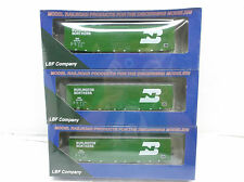 Lbf 50' boxcar kit 3 Pack Burlington Northern Bnsf Ho Scale
