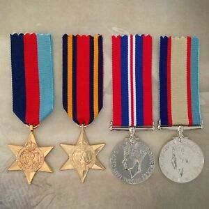 1939-45 STAR, BURMA STAR, 1939-45 WAR MEDAL+ 1939-45 ASM MEDAL SET
