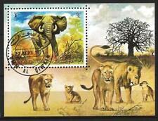 Animaux Eléphants Um Al Qiwain (57) bloc oblitéré