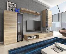 Wohnwand Patino Mediawand Wandschrank Wohnzimmer Sonoma Beleuchtung Schrank M24