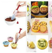 NEW Red Cake Biscuit Icing Decoration Syringe Chocolate Plate Pen Kitchen Tool B