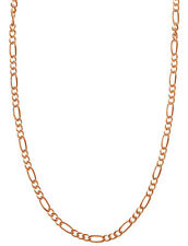 "Sterling Silver Rose Gold Chain Bracelet/Anklet Or Pendant Necklace In 7 - 36"""