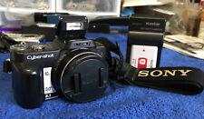 Sony Cyber-shot DSC-H10 8.1 MP Digital Camera - Black~~Nr Mint~~Charger/Battery~