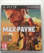 MAX PAYNE 3 PS3 ITALIANO GIOCO PLAYSTATION 3 COME NUOVO SPED GRATIS SU +ACQUISTI