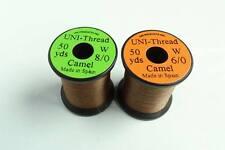 1 x 50 yards UNI Fil montage MARRON 6-0/8-0 peche mouche thread bobinas mosca