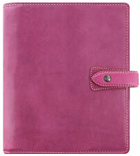 Filofax Malden A5 taille organiseur rose fuschia véritable Buffalo Leather Diary 026029