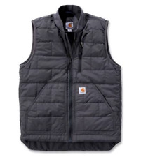 NWT Carhartt Mens Brookville Insulated Vest S Small Grey Thinsulate Quilted