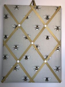 Hand Made Fabric Notice Board In Sophie Allport Bee Fabric