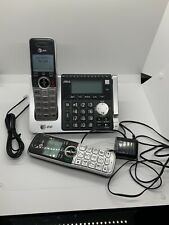 AT&T Cordless Telephone CL83464 2 Phones With Answering Machine Bundle