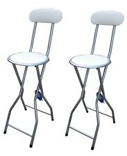 2 xcream acolchado plegable silla alta Desayuno Cocina Taburete Asiento suave de PVC 94cm